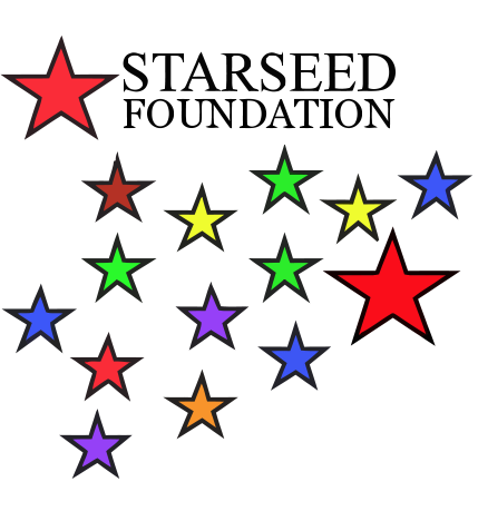 logo with colorful stars