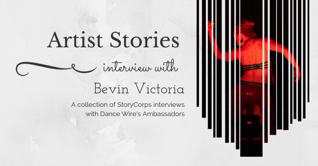 cover image for the artist stories interview with Bevin Victoria