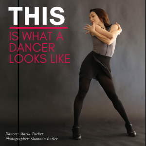 Asian woman in sassy jazz pose with caption THIS is what a dancer looks like